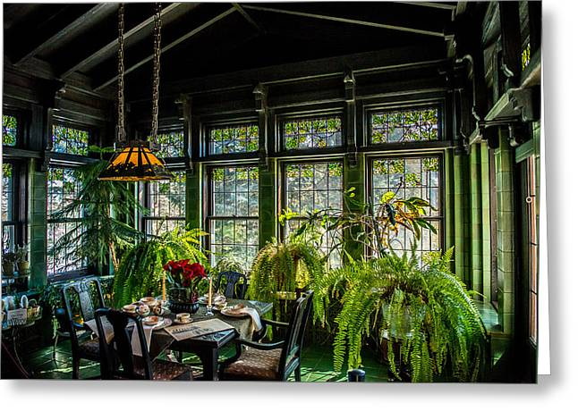 Glensheen Mansion Breakfast Room Greeting Card by Paul Freidlund