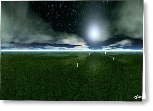 Field. Cloud Digital Greeting Cards - Glimpse of Eternity Greeting Card by Julie  Grace
