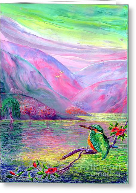 Bright Greeting Cards - Shimmering Streams Greeting Card by Jane Small
