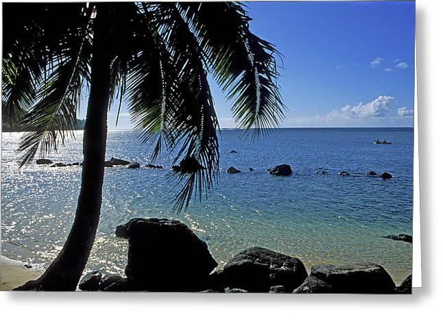 Beach Photos Greeting Cards - Glistening Anini Beach Greeting Card by Kathy Yates