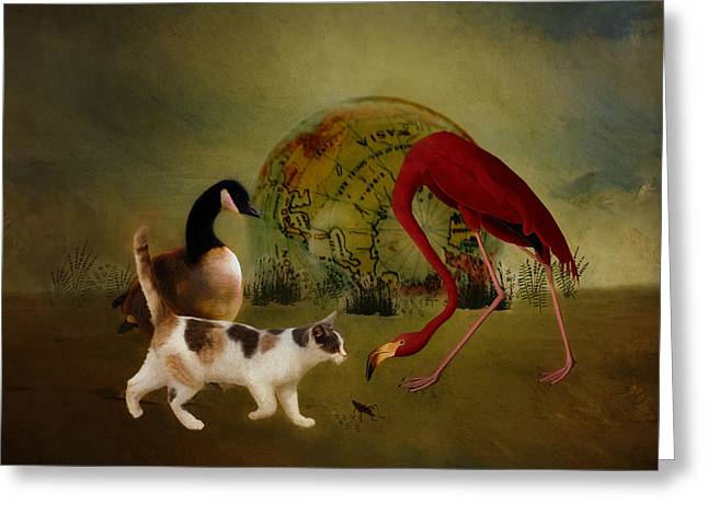 Fantasy World Greeting Cards - Global Initiative Greeting Card by Terry Fleckney