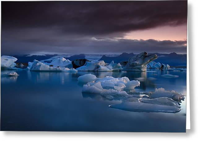 Iceland Greeting Cards - Global Warming Greeting Card by Amnon Eichelberg