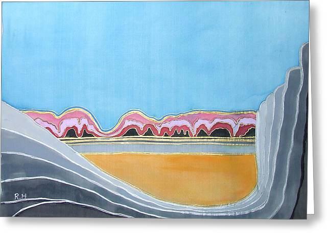 Global Warming Silk Melting Glaciers Valley Or Where Did All My Blue Glaciers Go  Greeting Card by Rachel Hershkovitz