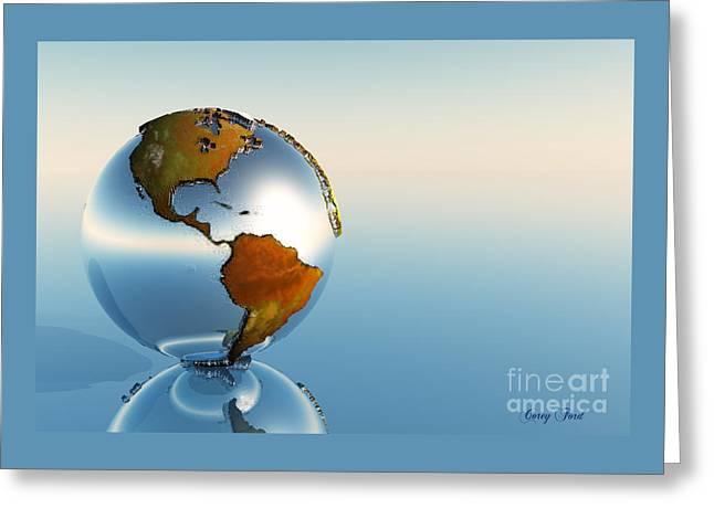 Globe Greeting Card by Corey Ford