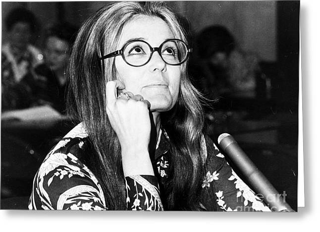 1970s Fashion Greeting Cards - Gloria Steinem (1934-) Greeting Card by Granger