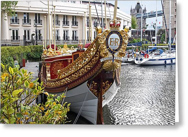 Old Home Place Greeting Cards - Gloriana - The Royal Barge Greeting Card by Gill Billington