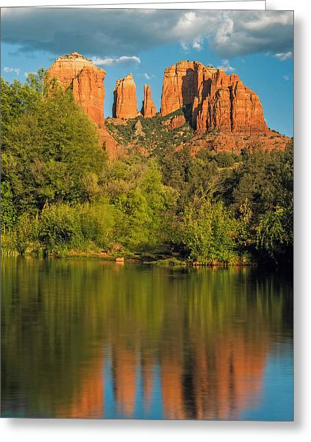Cathedral Rock Greeting Cards - Glorious Greeting Card by Aron Kearney Fine Art Photography