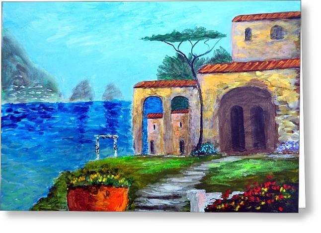 Glorious  Capri Greeting Card by Larry Cirigliano