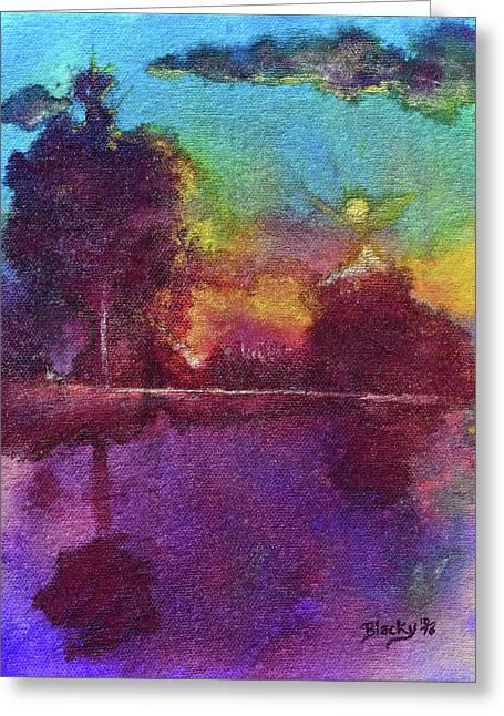 Glorious Dawn Greeting Card by Donna Blackhall