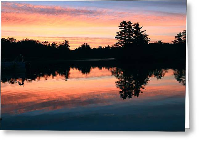 Maine Landscape Greeting Cards - Glorious Morning Greeting Card by Laurie Breton
