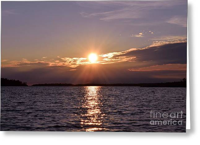 Abstract Nature Greeting Cards - Glorious Sunset Greeting Card by Sharon Patterson