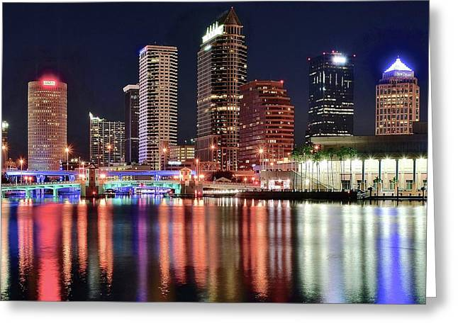 Inner Reflections Greeting Cards - Glorious Tampa Bay Florida Greeting Card by Frozen in Time Fine Art Photography