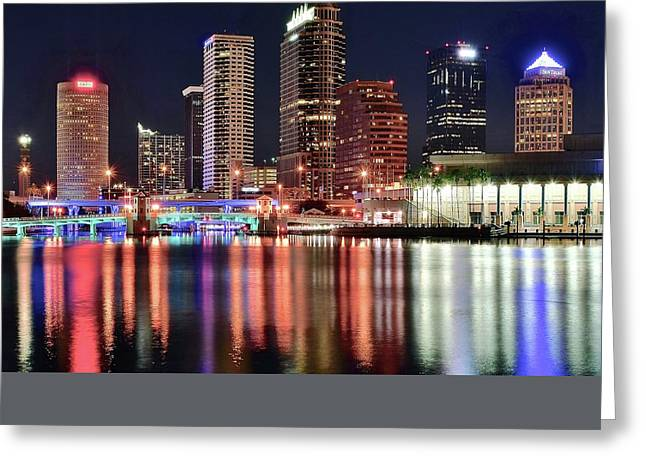 Baseball Stadiums Greeting Cards - Glorious Tampa Bay Florida Greeting Card by Frozen in Time Fine Art Photography