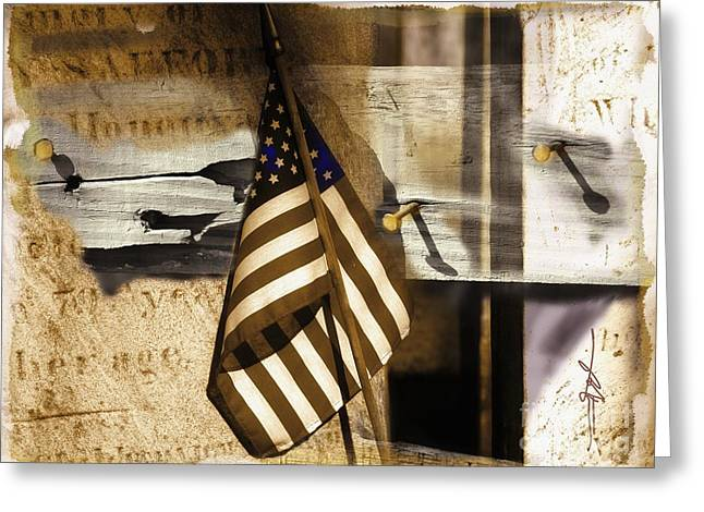 Old Objects Mixed Media Greeting Cards - Glory Greeting Card by Bob Salo
