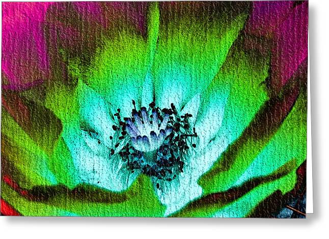 Abstract Digital Digital Greeting Cards - Glory In The Moonlight Greeting Card by Lisa S Baker