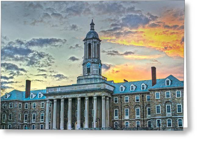 Penn State Greeting Cards - Glory of Old State Greeting Card by Michael Misciagno