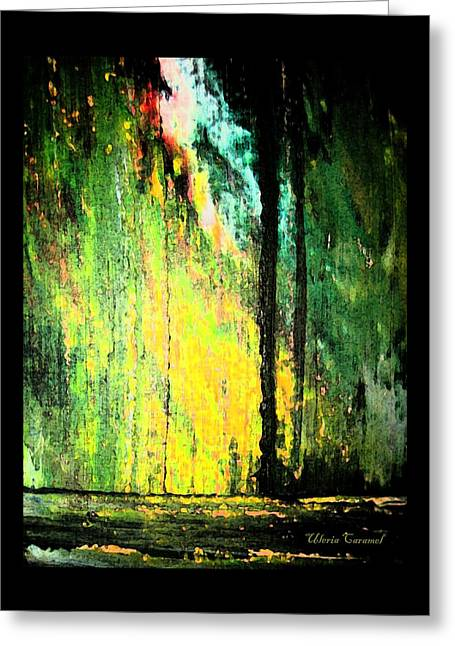 Photo Art Gallery Paintings Greeting Cards - Glory of The Forest Greeting Card by Uleria Caramel