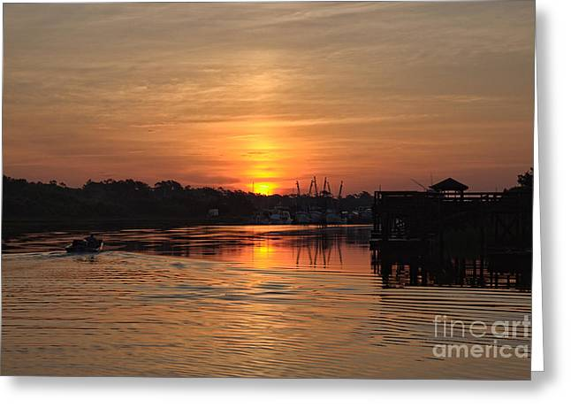 Masts Greeting Cards - Glory of the Morning Greeting Card by Roberta Byram