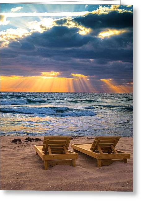 Chaise Greeting Cards - Glory - vertical crop Greeting Card by Lynn Bauer