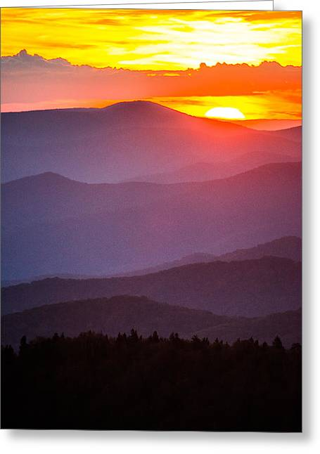 Gatlinburg Tennessee Greeting Cards - Glow and the Dark Greeting Card by Shelby Young