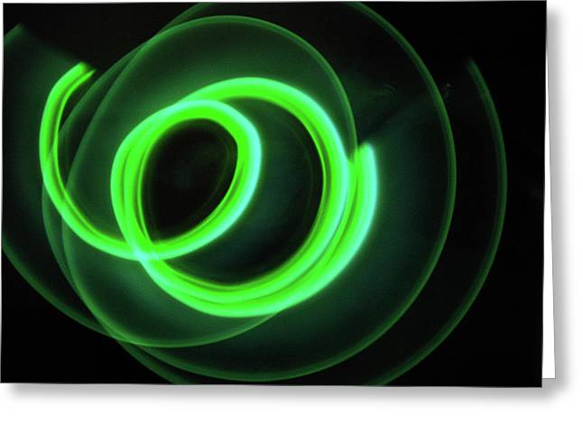 Glow Stick Motion Greeting Card by Denise Keegan Frawley