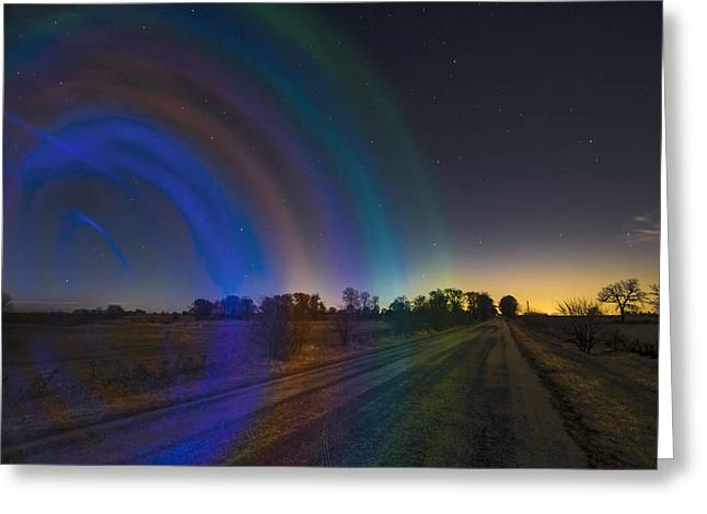 Glow Sticks And Stars Greeting Card by Sven Brogren
