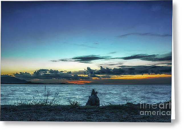 Michelle Greeting Cards - Glowing Horizon Greeting Card by Michelle Meenawong