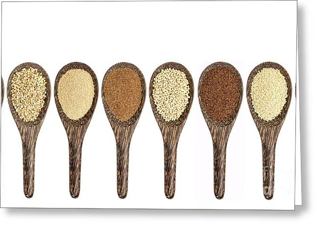 Black Top Greeting Cards - Gluten Free Grain Collection Greeting Card by Marek Uliasz