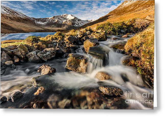 Glyder Fawr Mountains Greeting Card by Adrian Evans
