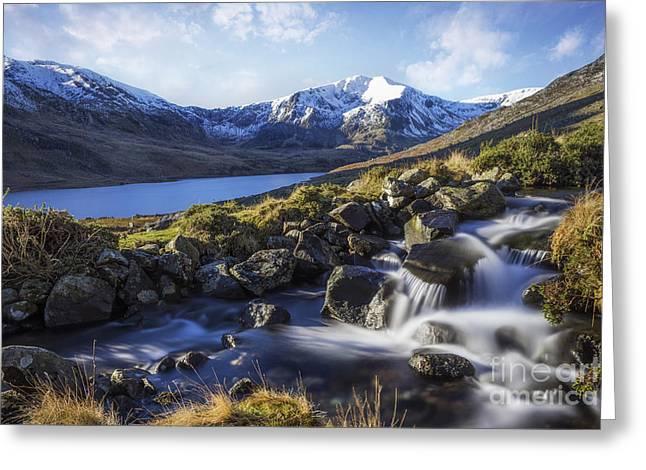Glyder Fawr Range Greeting Card by Ian Mitchell