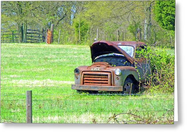 Gmc Retired Greeting Card by Larry Bishop