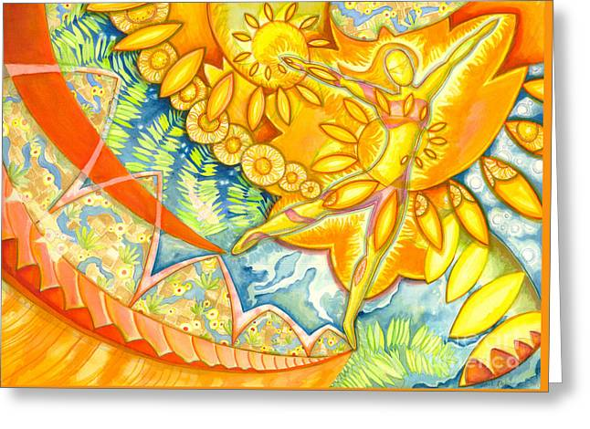 Go Confidently In The Direction Of Your Dreams Greeting Card by Mark Stankiewicz