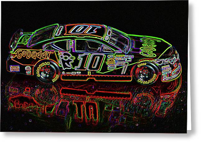 Go Daddy Nascar Stock Car Greeting Card by Bruce Roker