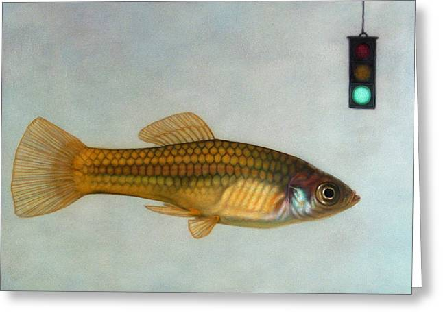 Go Fish Greeting Card by James W Johnson