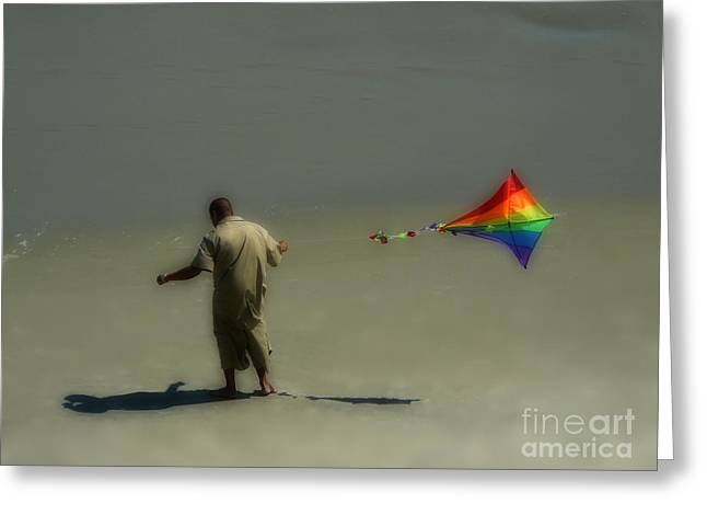 Kites Greeting Cards - Go Fly A Kite Greeting Card by Jeff Breiman