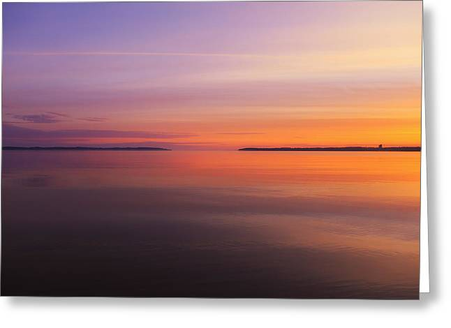 Reflection In Water Greeting Cards - Go Forth at Sunrise Greeting Card by Rachel Cohen