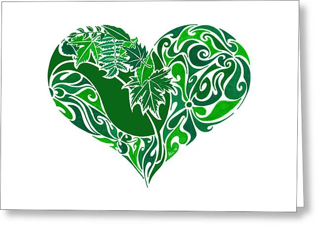 Go Green Greeting Card by Anushree Santhosh