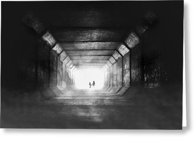 Tunnel Greeting Cards - Go Home Greeting Card by Stefan Eisele