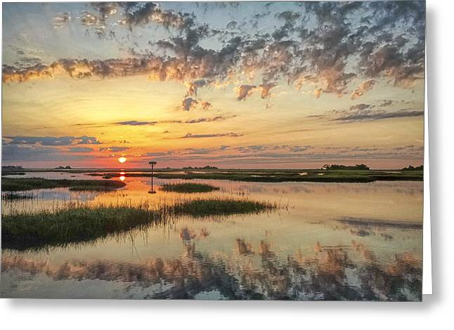 Tidal Photographs Greeting Cards - Sunrise Sunset Photo Art - Go In Grace Greeting Card by Jo Ann Tomaselli