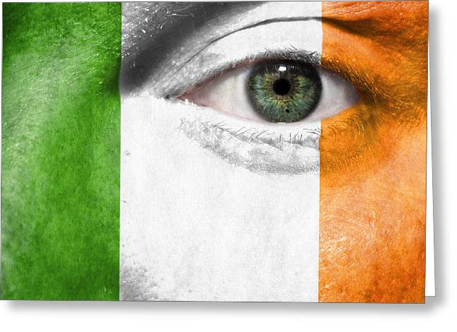 Flag Photographs Greeting Cards - Go Ireland Greeting Card by Semmick Photo