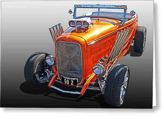 Ford Hotrod Greeting Cards - Go Orange Greeting Card by Gill Billington