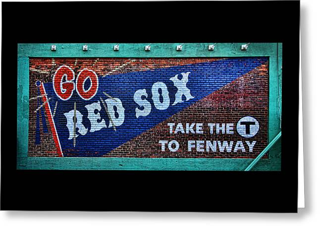 Baseball Art Greeting Cards - Go Red Sox Greeting Card by Stephen Stookey