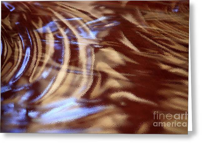 Abstract Digital Photographs Greeting Cards - Go With the Flow - Abstract Art Greeting Card by Carol Groenen