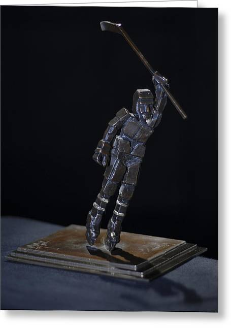 Sport Sculptures Greeting Cards - Goal By Yack Greeting Card by Ken  Yackel