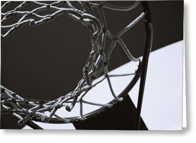 Basketball Abstract Greeting Cards - Goal Greeting Card by Steven Milner