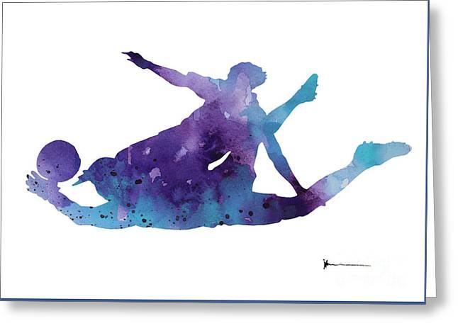 Goalkeeper Poster Greeting Card by Joanna Szmerdt