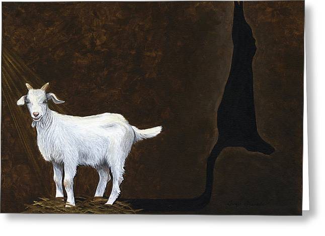 Advocacy Greeting Cards - Goat Shadow Greeting Card by Twyla Francois
