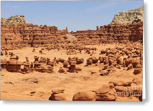 Monolith Greeting Cards - Goblin Valley 3 Greeting Card by Tonya Hance