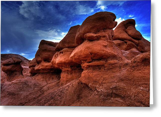 Goblin Valley Textures Greeting Card by Mike Flynn