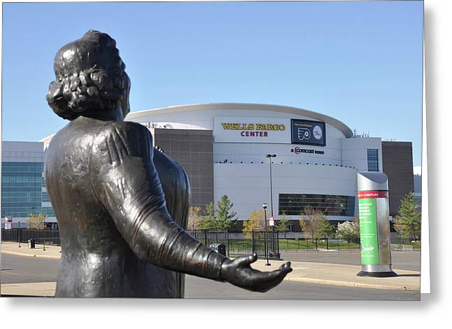 God Bless The Flyers - Kate Smith Greeting Card by Bill Cannon